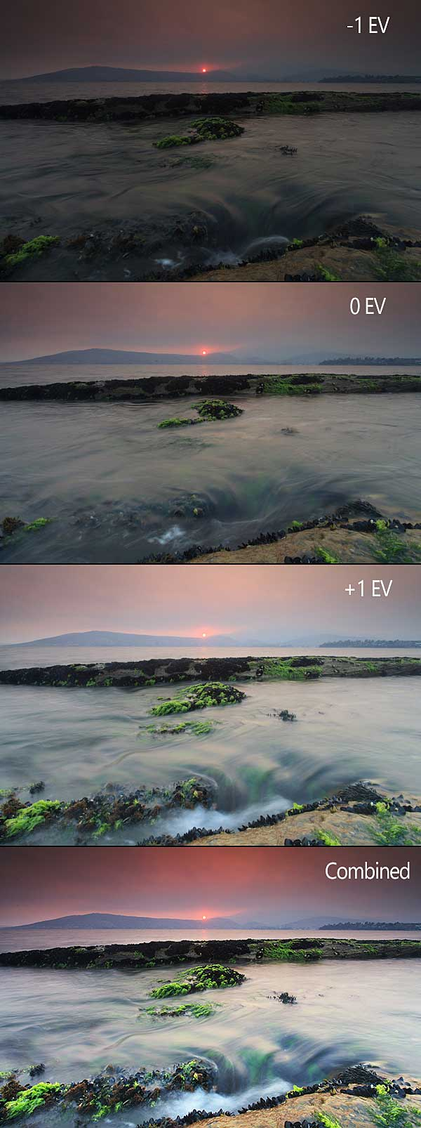 Another final image with the 3 auto exposure images and final image