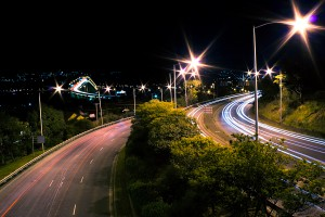 Tasman Bridge Long Exposure Night Photograph