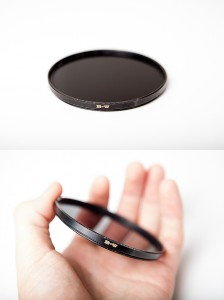 A circular neutral density filter - The B+W 110 10 stop neutral density filter. Great for day time long exposures