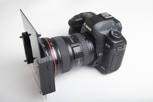 Camera with graduated neutral density filters