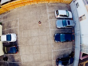Sneaky self portrait from the Phantom. Yep, my neighbours need to learn how to park...