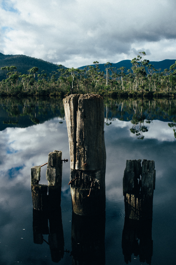 Road side reflections near Huonville with the Fujifilm X100