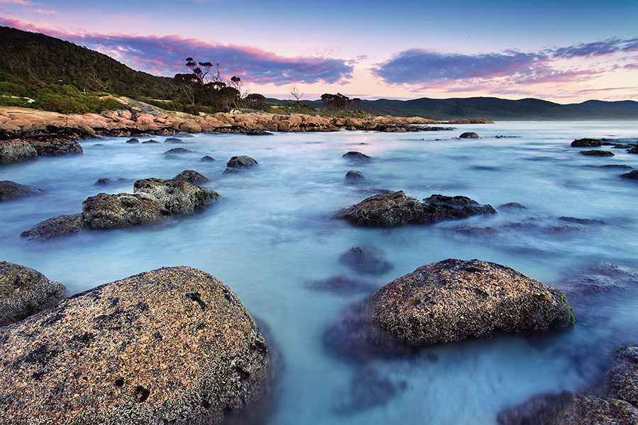 Up and early for sunrise at Redbill Beach, Bicheno