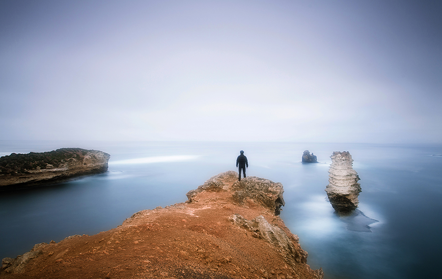 Self portrait at the Bay of Martyrs