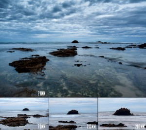 Comparing focal lengths at Rye, Victoria ranging from 24mm to 200mm