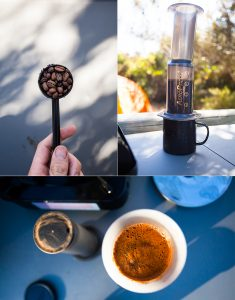 What carried me through our trip - Aeropress.
