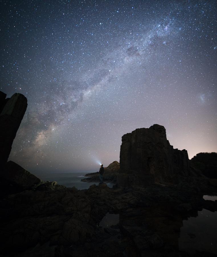 Watching the milky way at Bombo Quarry, NSW