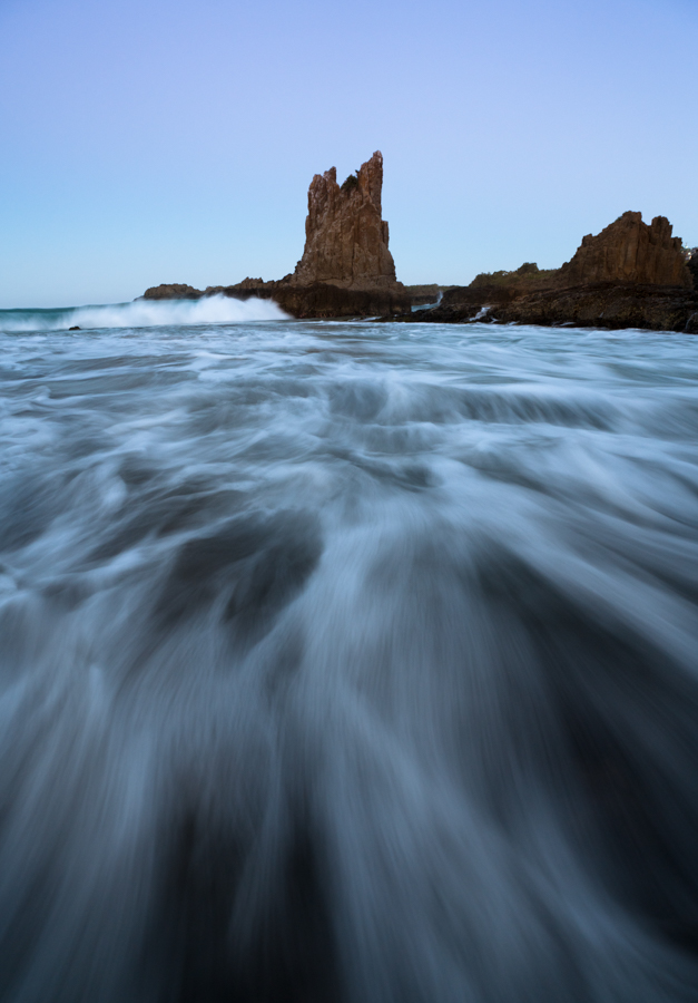 Last light at Cathedral Rock, NSW