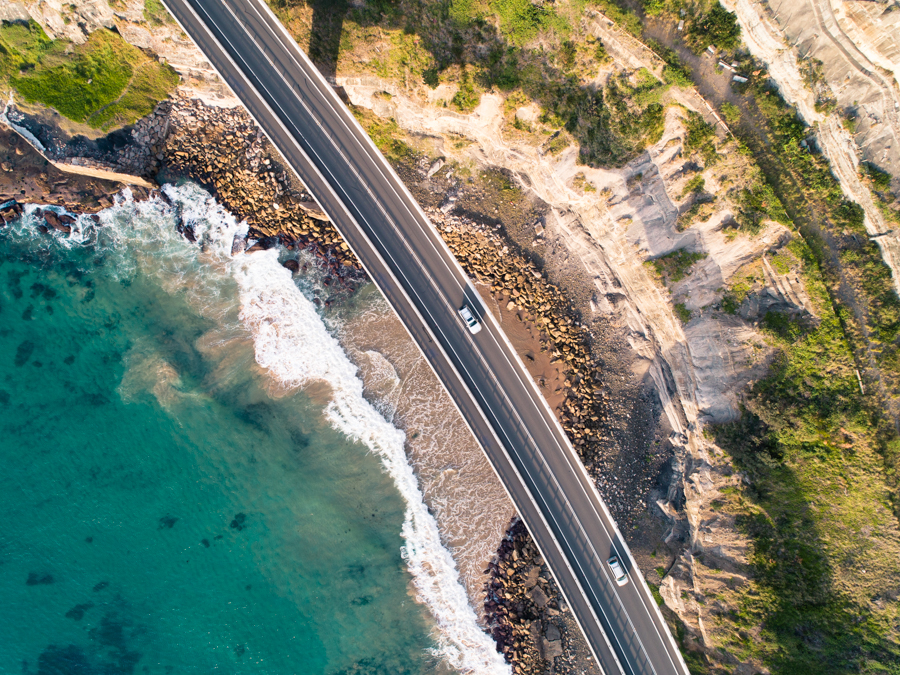 Sea Cliff Bridge Aerial