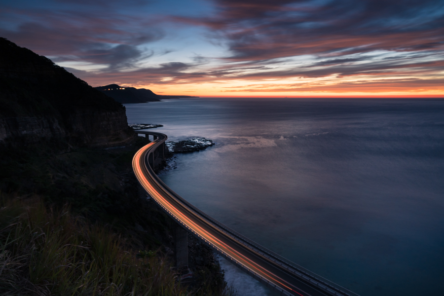 First light at Sea Cliff Bridge, NSW